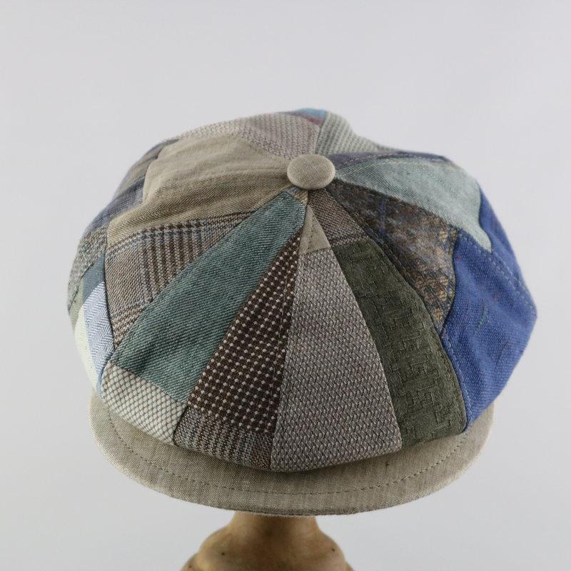 MAGILL HAT PATCHWORK NEWSBOY CAP