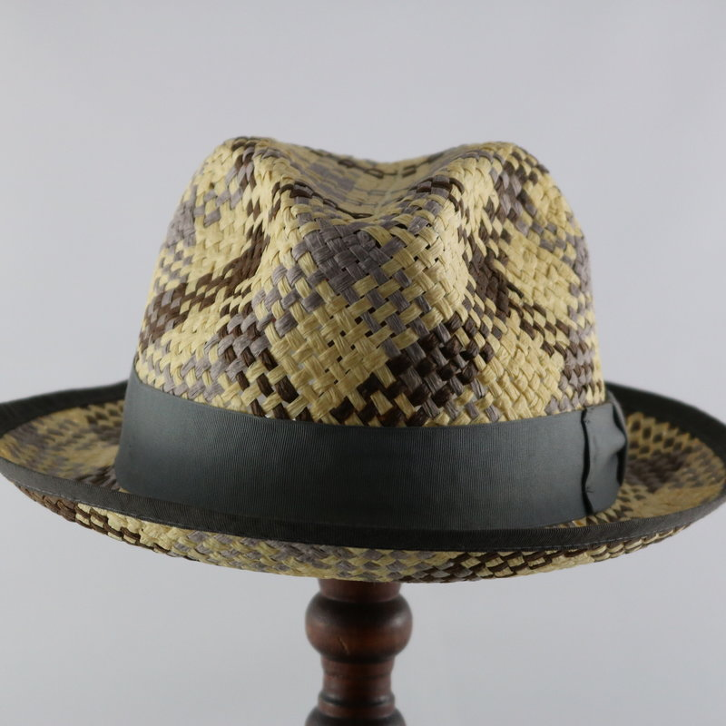MAGILL HAT ALEXANDRIA PLAID PAPER HAT