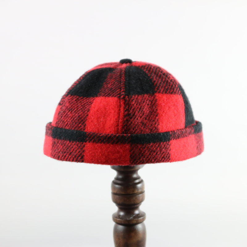 CROWN CAP WATCHMAN CAP BUFFALO CHECK