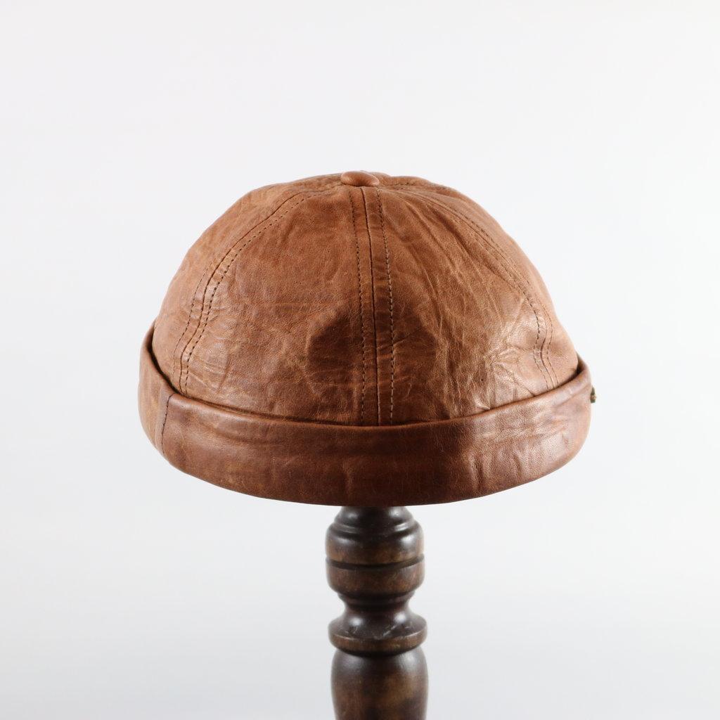 CROWN CAP WATCHMAN CAP LEATHER