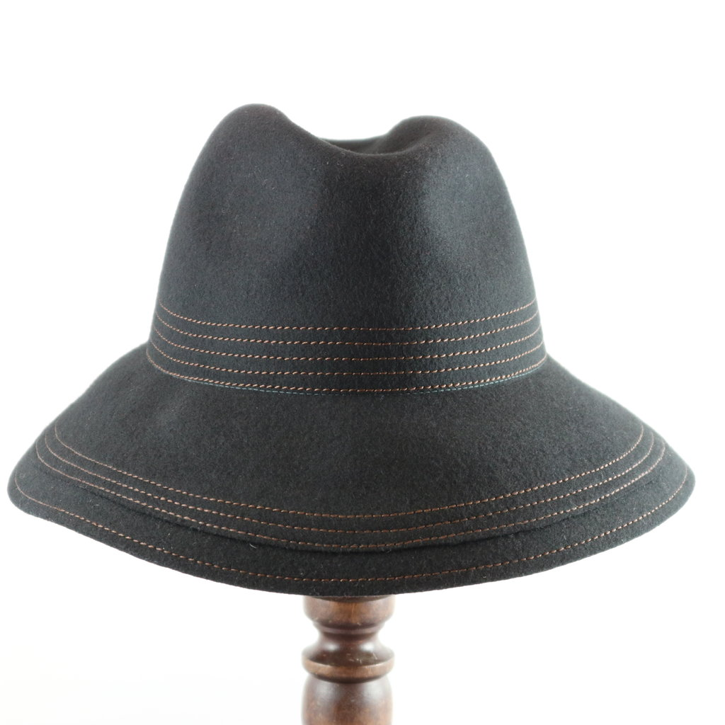 CANADIAN HAT WATER REPELLENT  DOUBLE BRIM WOOL FEDORA