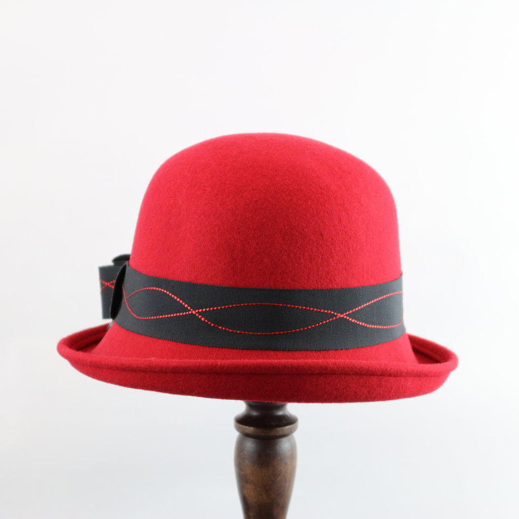 CANADIAN HAT BOWLER WITH RIBBON DETAIL