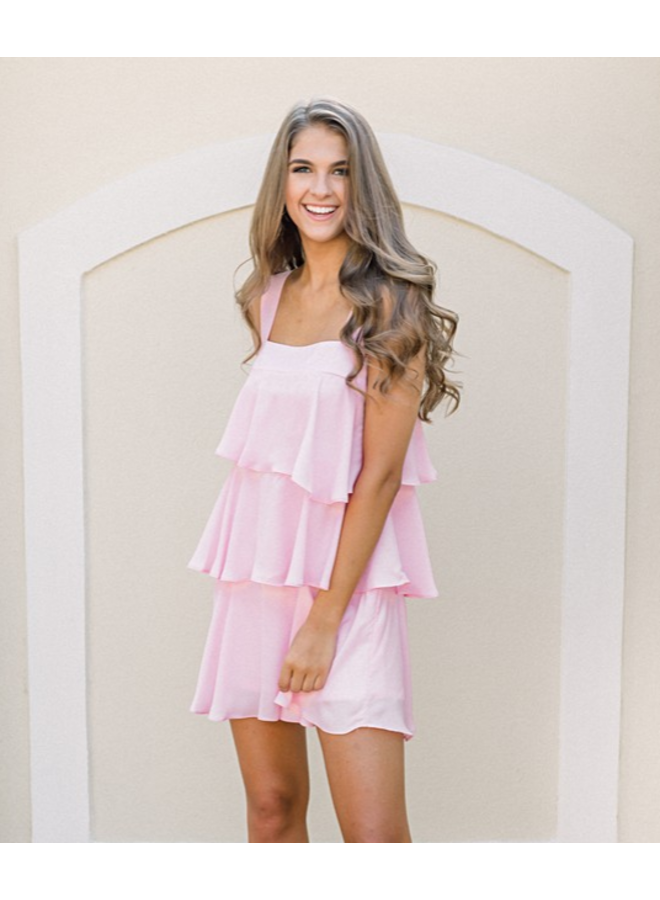 Pretty in Pink Ruffle Dress