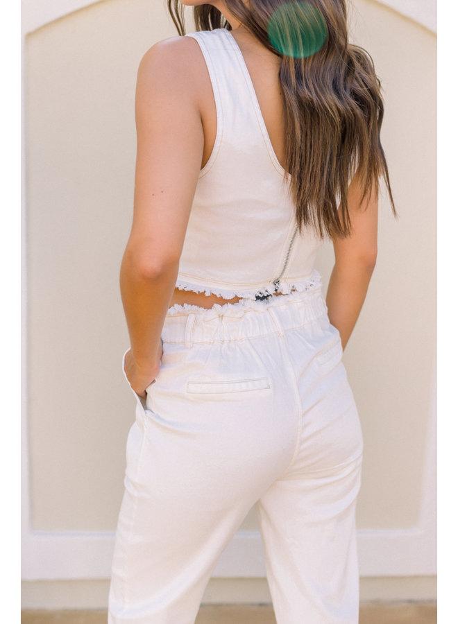 Hailee's Fav Off-White Denim Pants