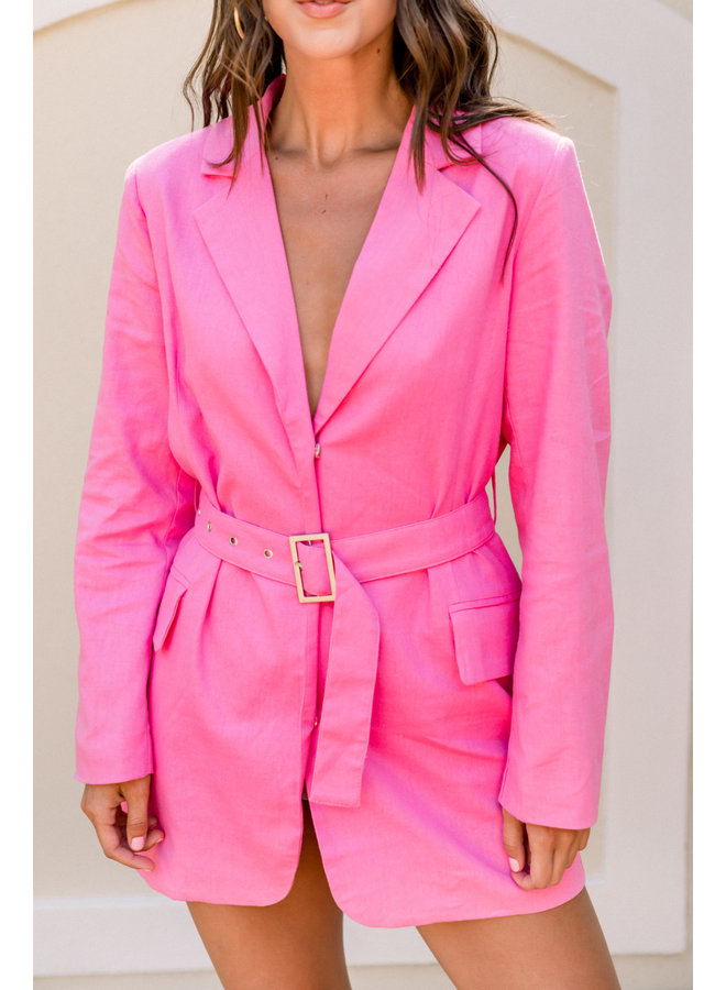 Boss Babe Hot Pink Blazer dress
