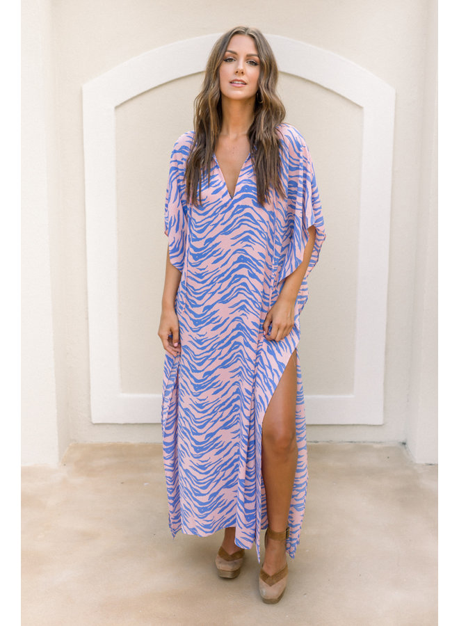 Poppin Zebra Maxi Dress