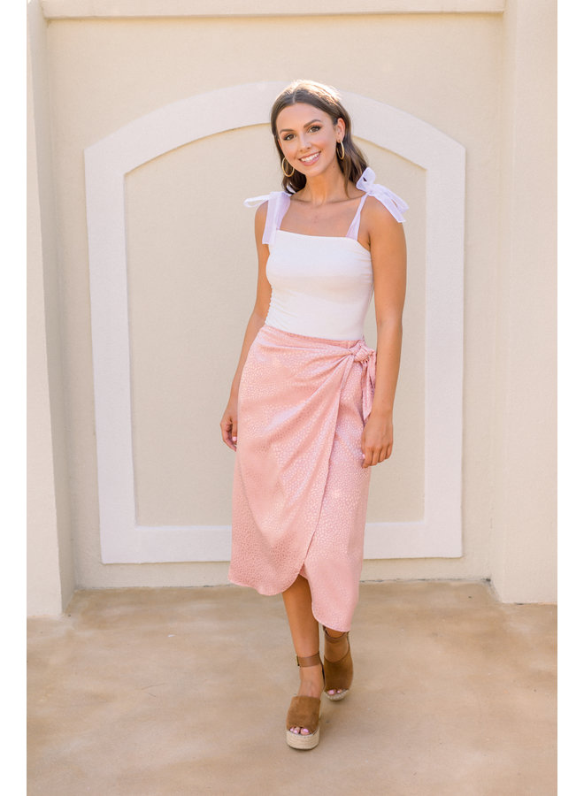 Your Baby Pink Midi Skirt