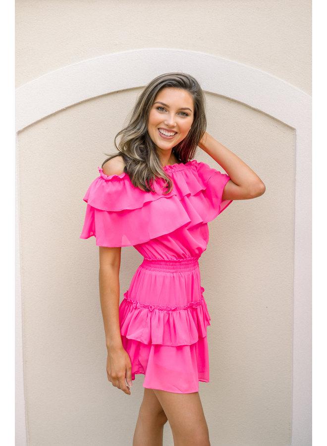 Hot Pink Kiera Dress