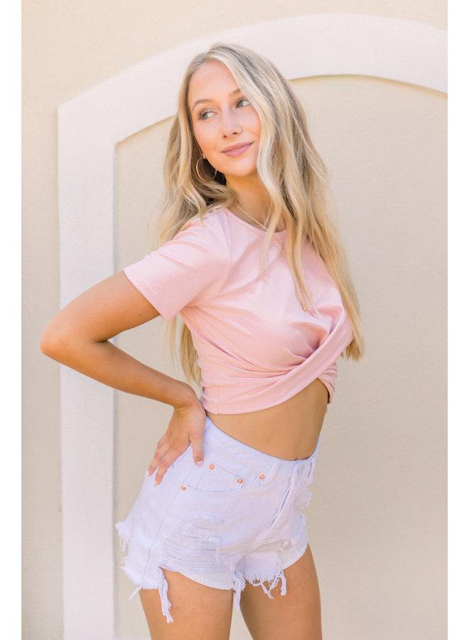 Light Pink Caroline Crop