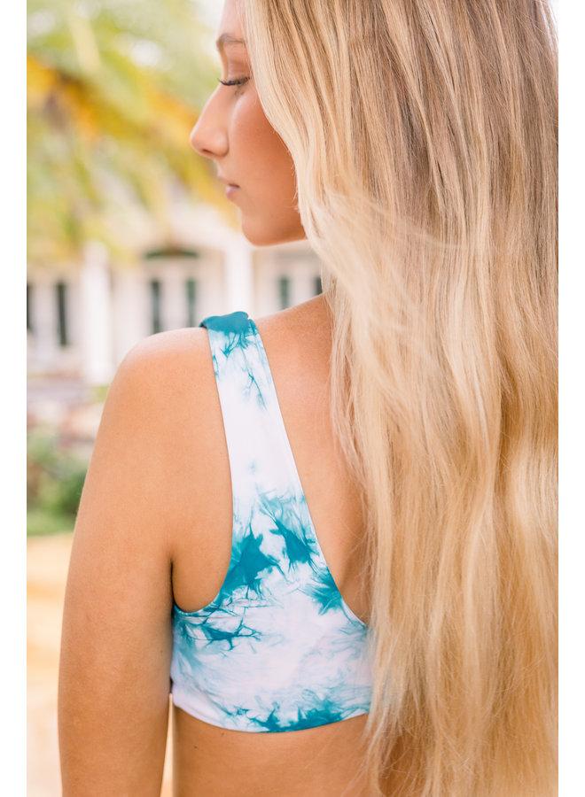 Muse Aqua Tie-Dye Top