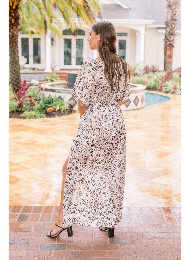 High-Low Leopard Dress