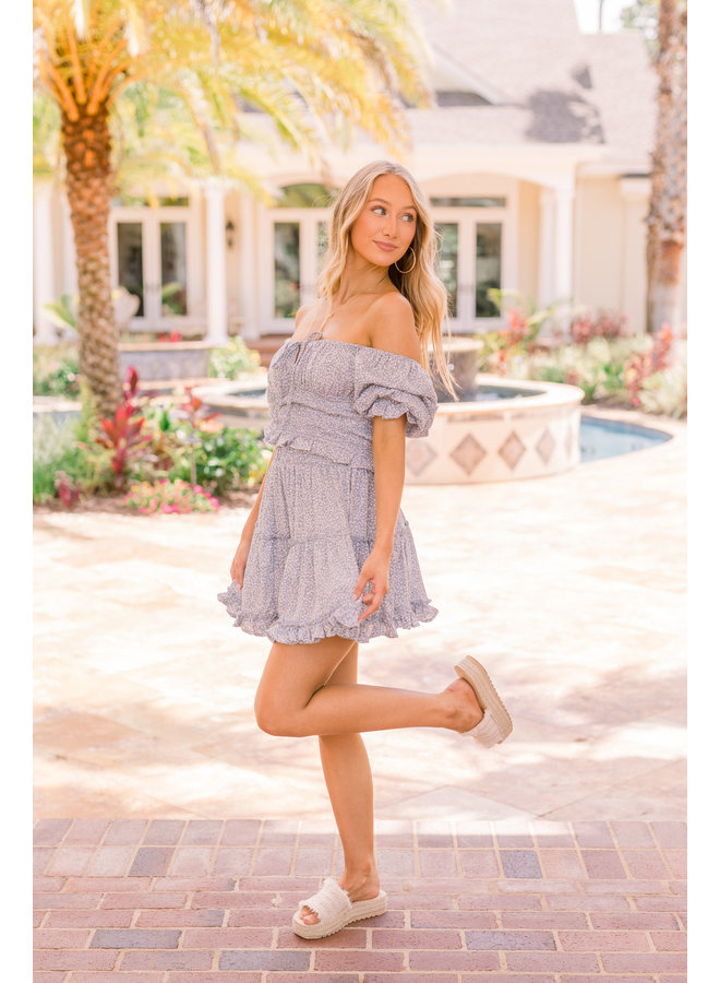Crepe Ruffle Skirt