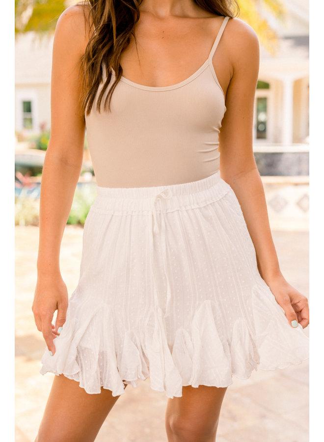 Woven Eyelet Skirt