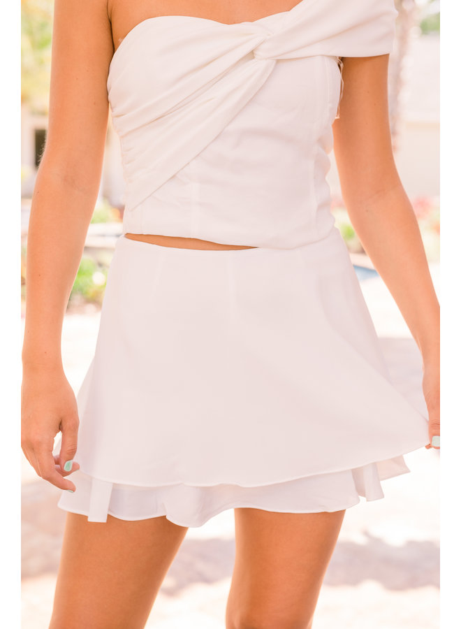 Double Layered Mini Skort