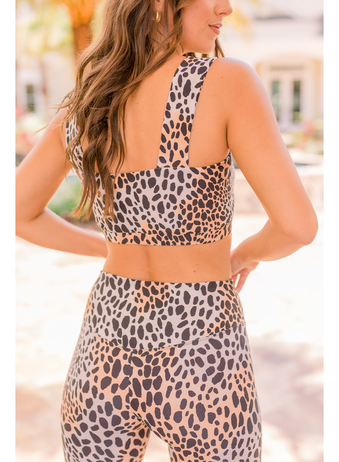 Kayla Cheetah Sports Bra