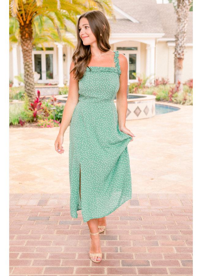 Kelly Polka Dot Midi Dress