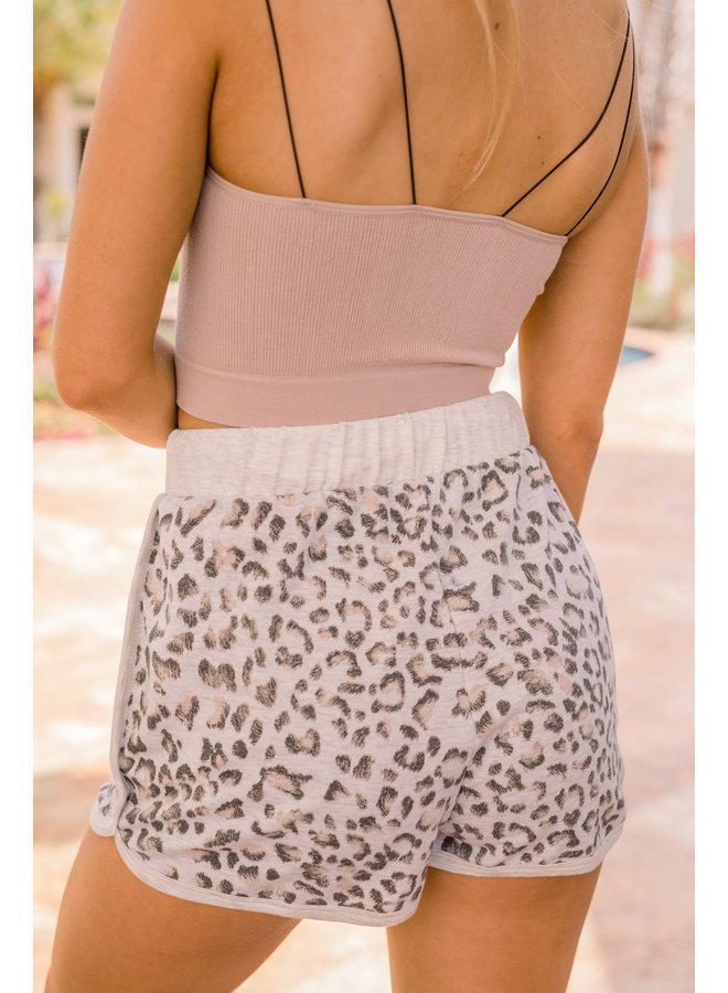 Grey Hollyn Leopard Shorts