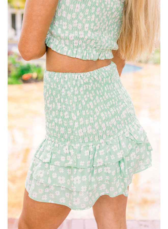 Viridescent Ruffle Skirt