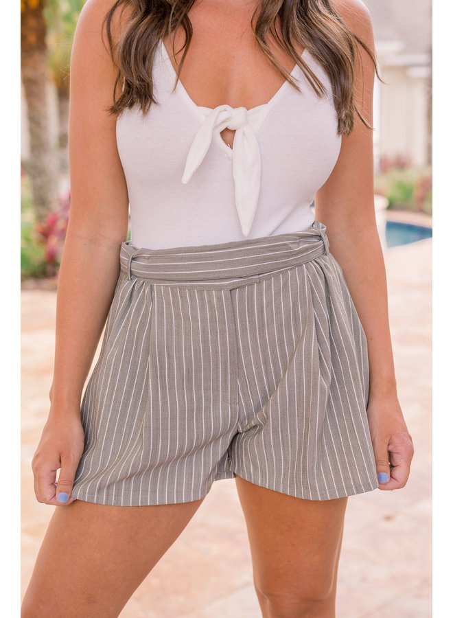 Remmy Striped Waist Shorts