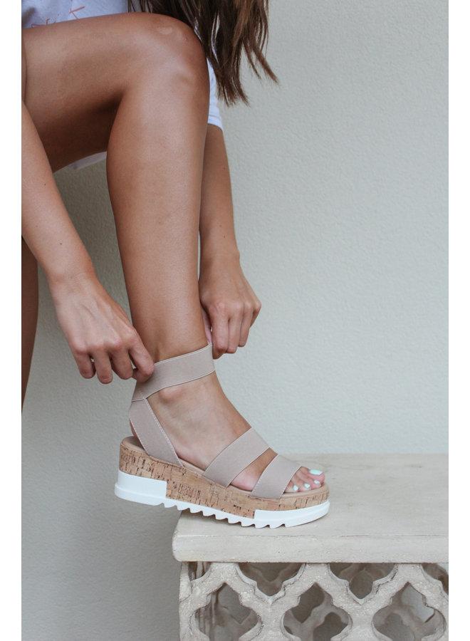 Nude Platform Sandal