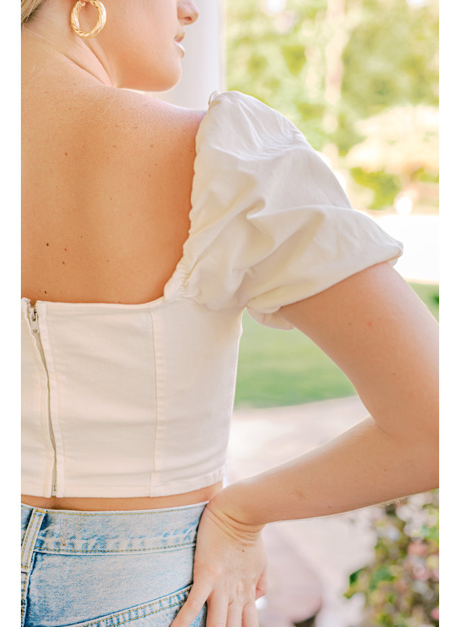 Blossom Puff Sleeved Crop