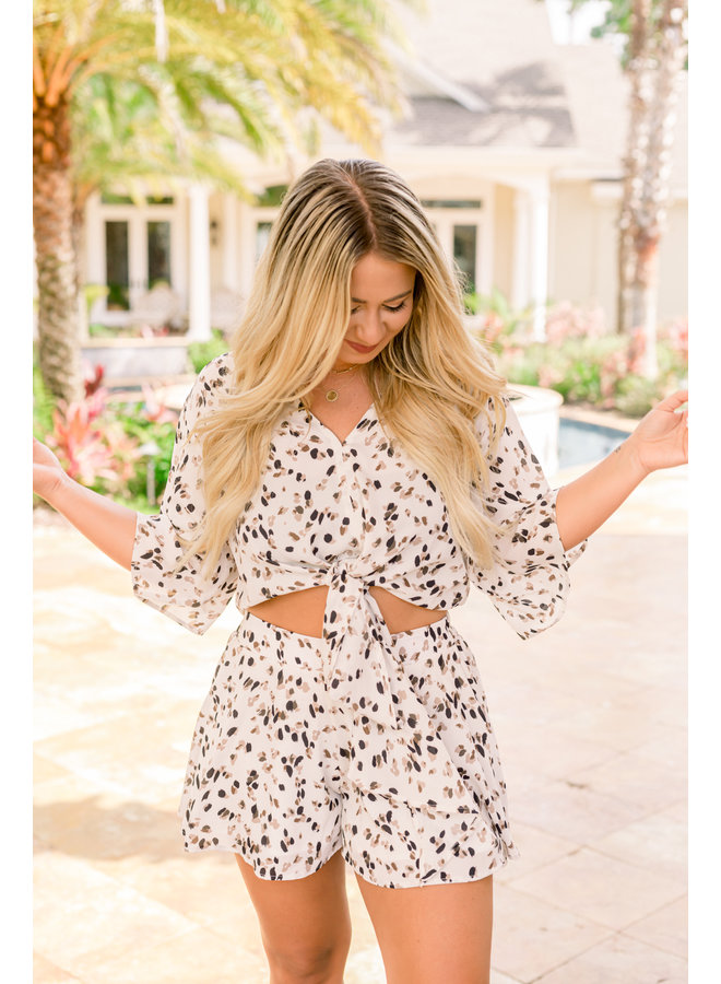Spotted Tie Top