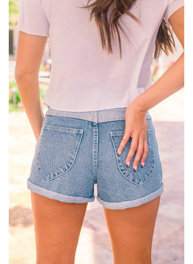 Tumbled Blue Dusters Short