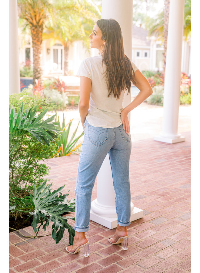 Old Stone Rip Duster Jeans