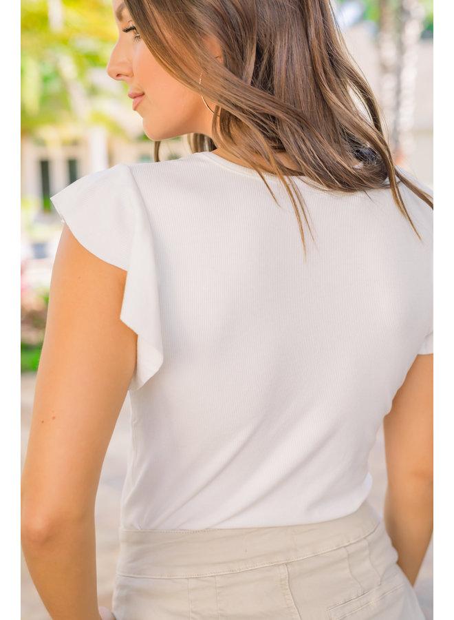 Ruffled Up Shirt - White