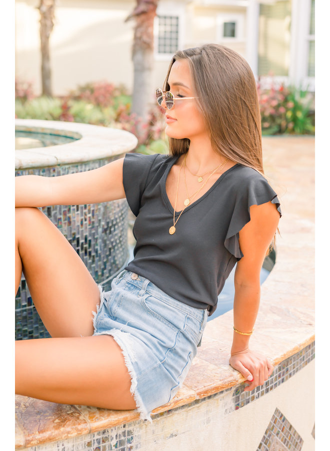 Ruffled Up Shirt - Black