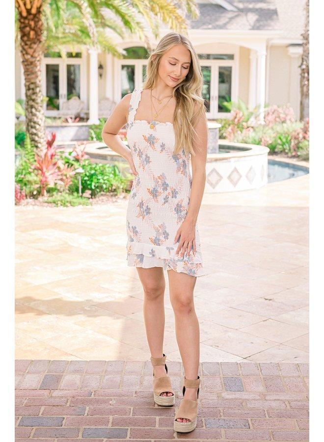Hawaiian Times Smocked Dress