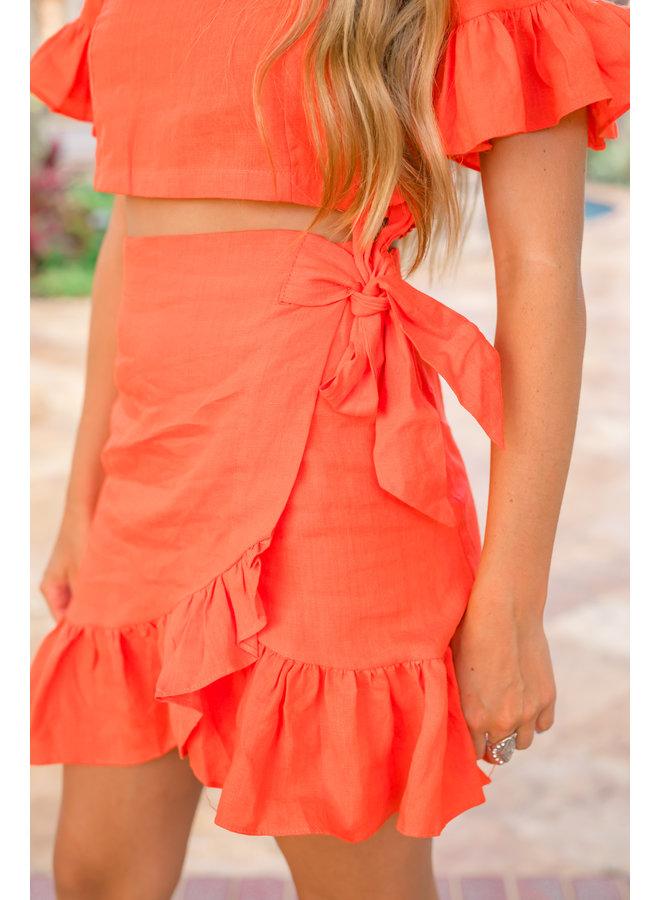 Sunset Kisses Wrap Skirt