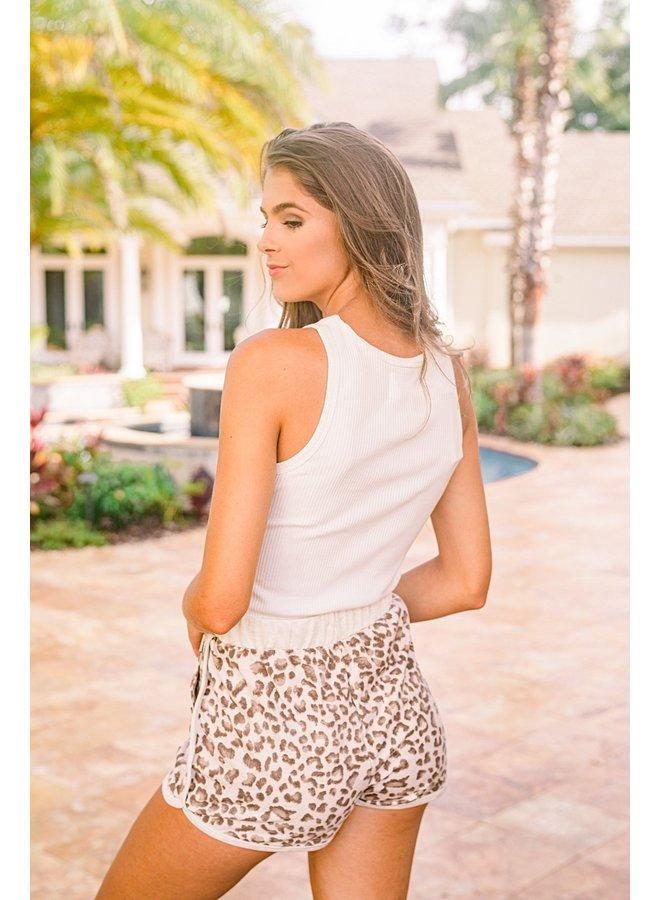 Cream Hollyn Leopard Shorts