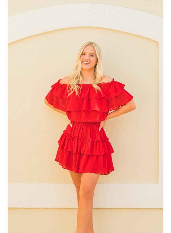 Red Kiera Dress
