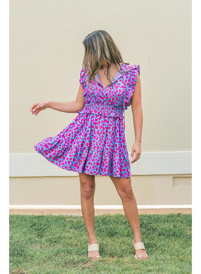 Real Teal Leopard Dress