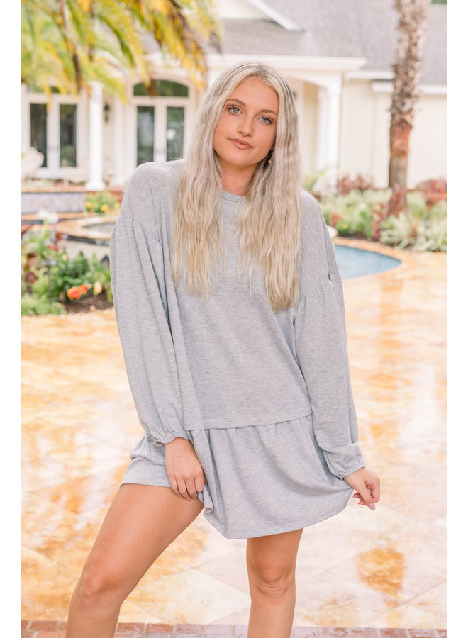 Hangout Grey TShirt Dress