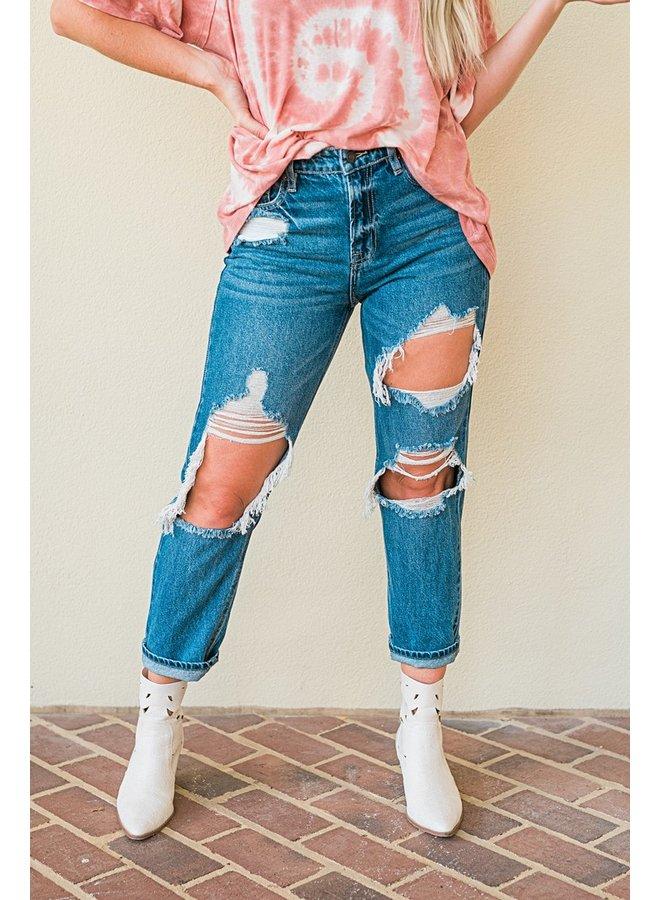 I'm Torn Boyfriend Jeans