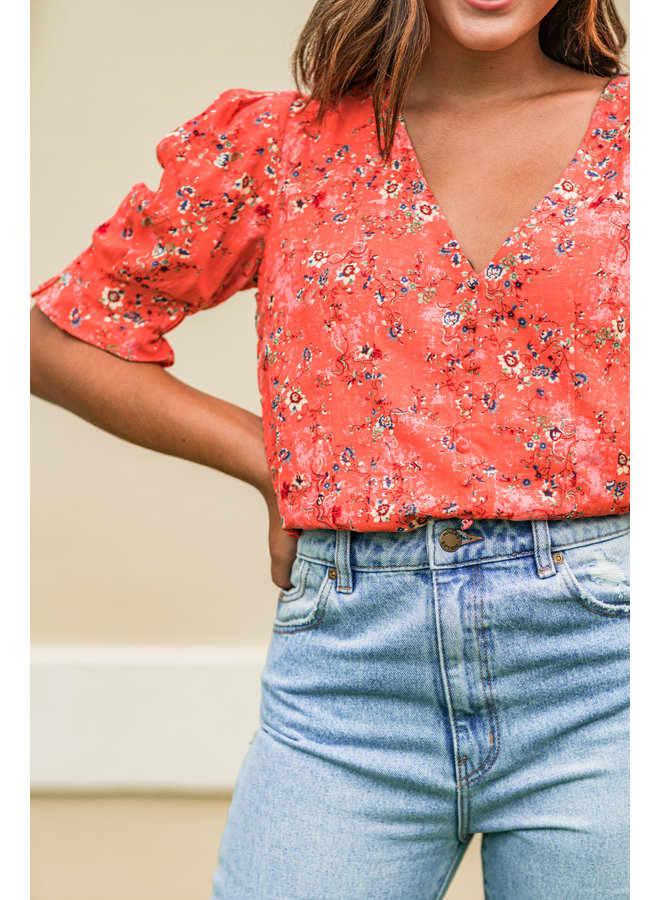 Feel The Love Floral Top