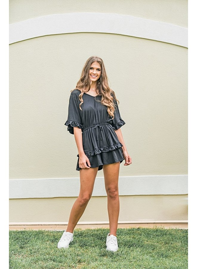 Here for the Tailgate Romper