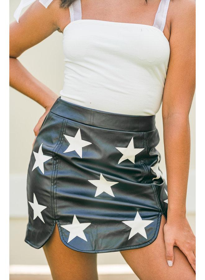 Seeing Stars Leather Skirt