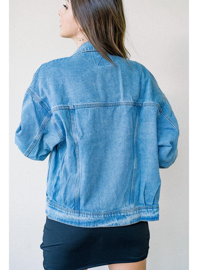 You're So Vintage Oversized Jean Jacket