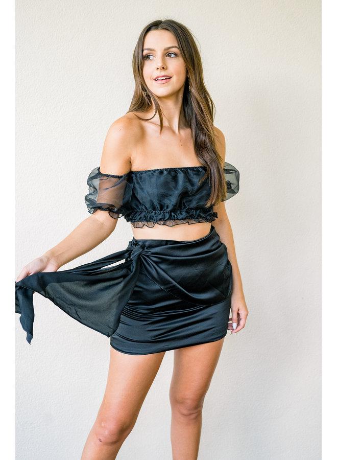 Saturdaze Satin Skirt