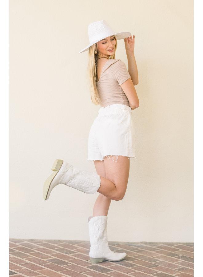 White Emma Hat