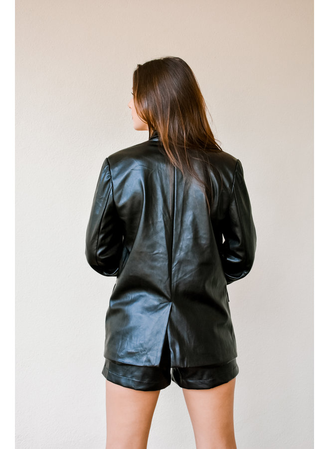 Back In The City Leather Blazer