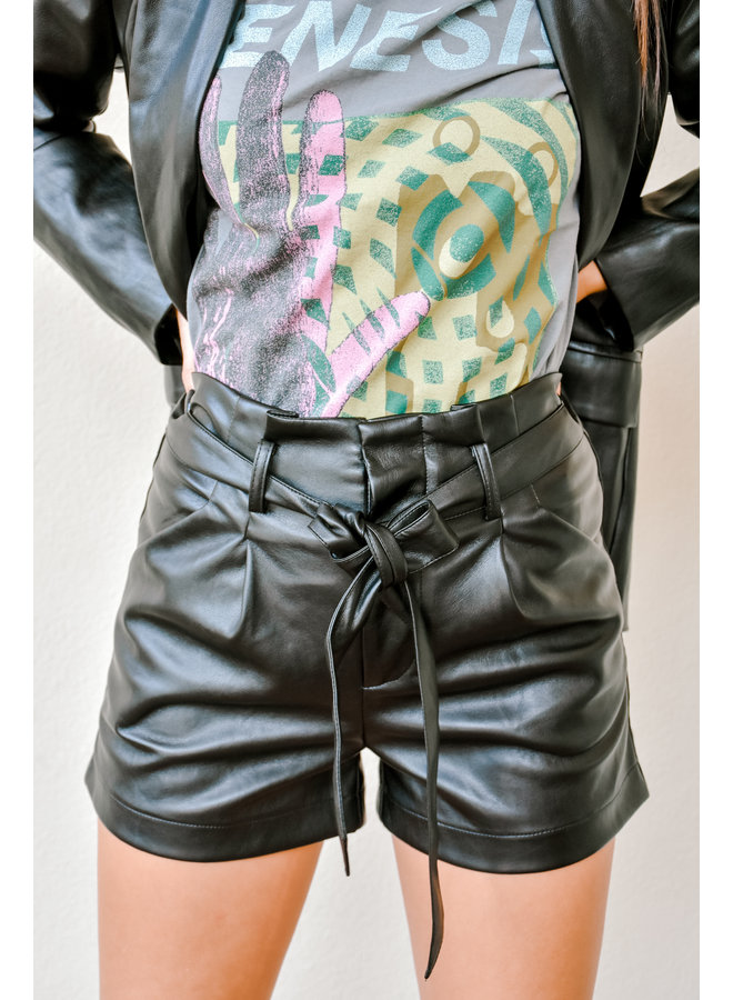 Back In The City Leather Shorts