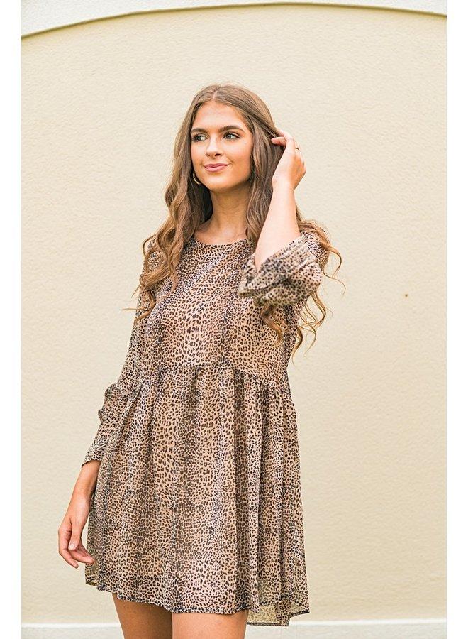 Let's Latte Leopard Dress