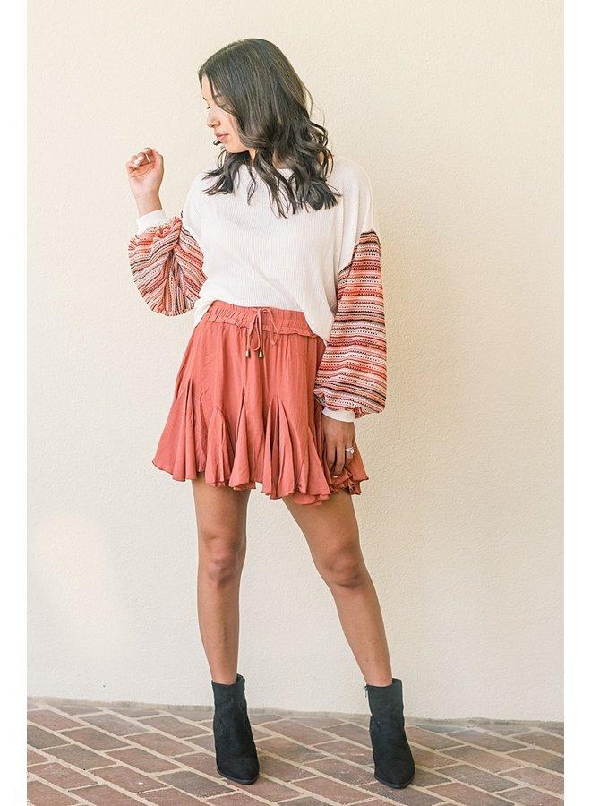Rust Swing Skirt