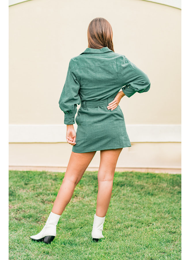 Lucky Girl Belted Dress