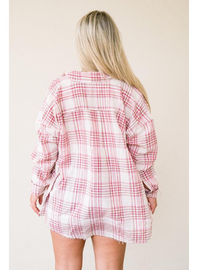 Line Dance Oversized Flannel