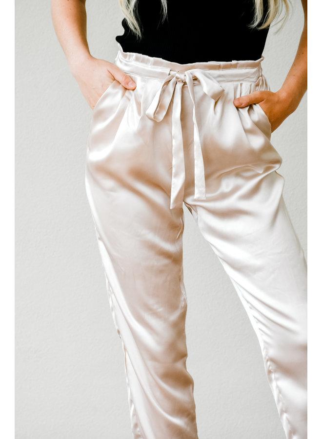 Veuve Silk Tie Pants